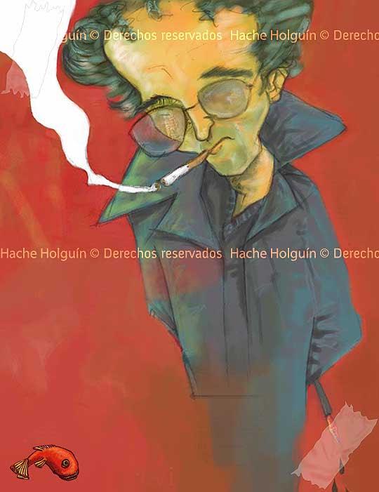 Poster Roberto Bolaño. Por hache holguín