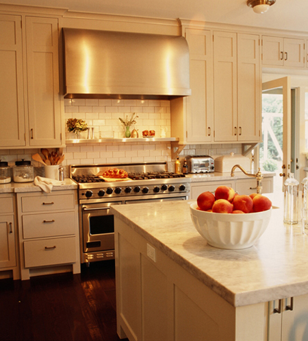 Cream Kitchen Cabinets - Transitional - kitchen - Kristen Panitch ...