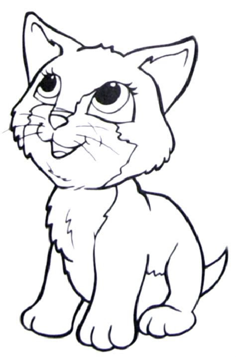 print   benefit  cat coloring pages
