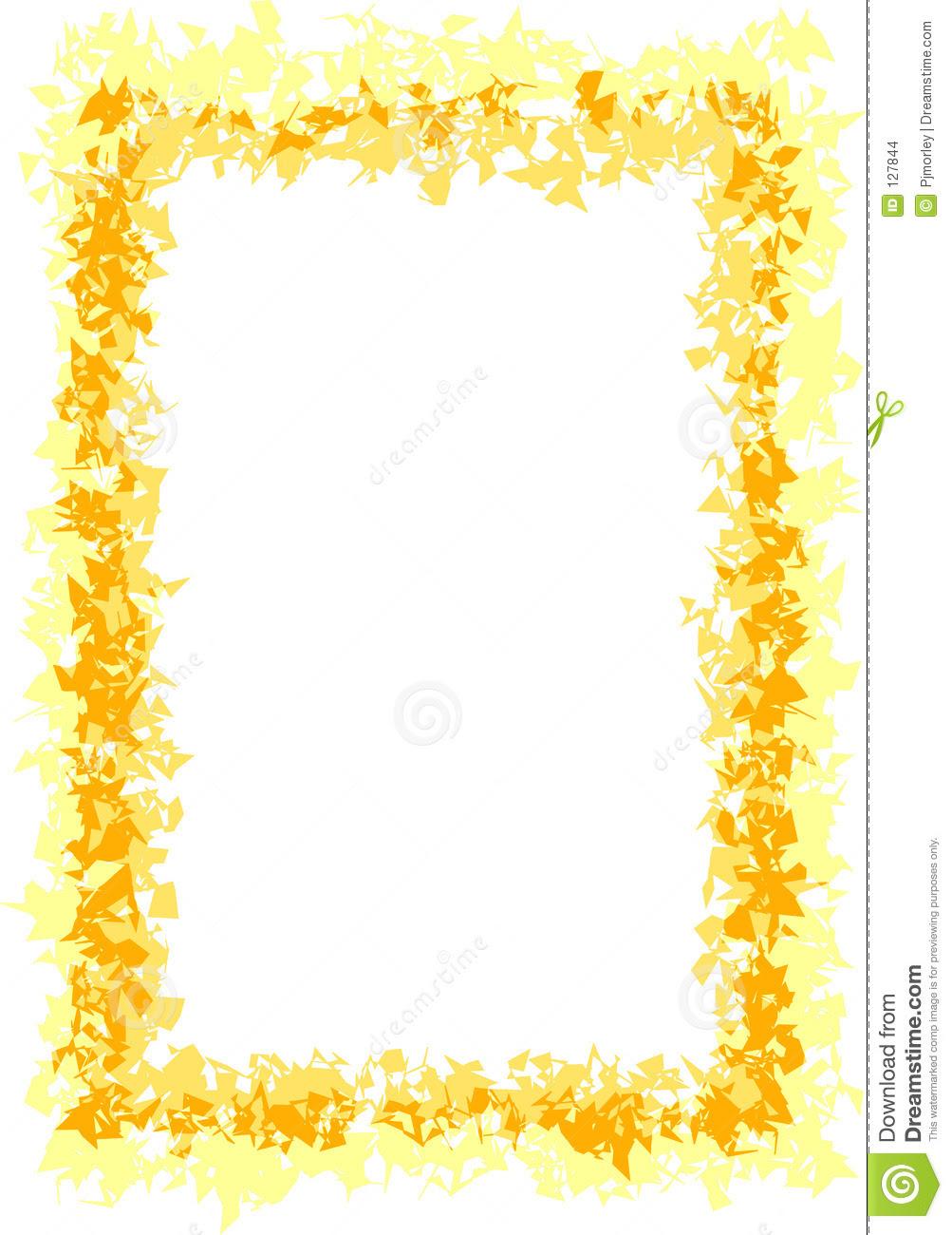 gold frame clip art yellow gold border 127844