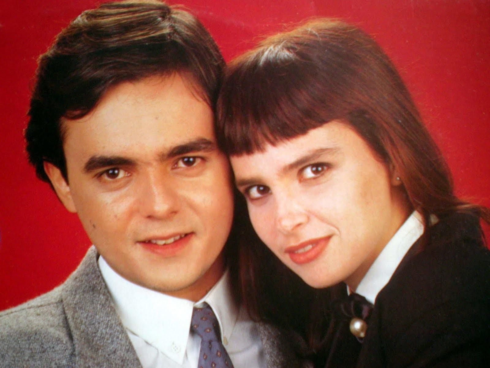 Lídia Brondi e Cássio Gabus Mendes na época de Vale Tudo (1988) (Foto: Divulgação)