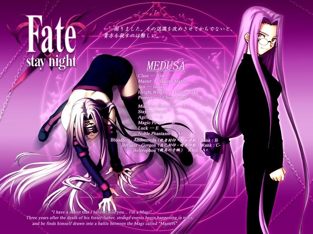 Rider Medusa Fate Stay Night Wallpaper 8266359 Fanpop