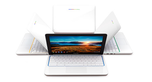HP Chromebook 11. Made with Google