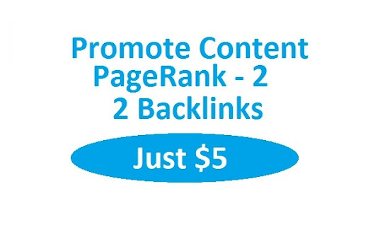 I will promote content with 2 backlinks on PR 2 blog for $5