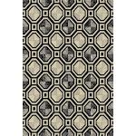 "Flat Weave Geometric Mosaic Area Rug 7'6"" x 10'3"" / Gray"