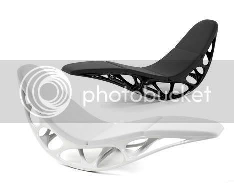 black & white Morphogenesis Chaise