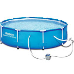 "Bestway 10' x 30"" Steel Pro Frame Above Ground Swimming Pool"
