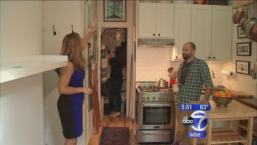 Couple squeezes into one of Manhattan's tiniest apartments |