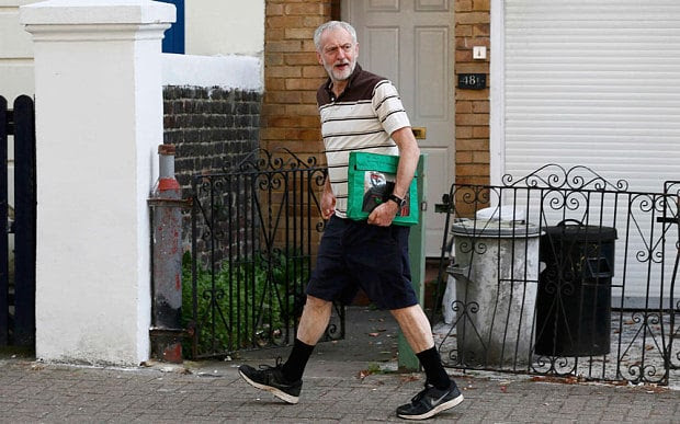 Jeremy Corbyn shows his legs