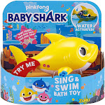 Robo Alive Sing & Swim Baby Shark Robotic Bath Toy [Yellow]