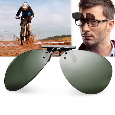 Anti - UV Aviator Polarized Sunglasses Clip Ultra - light Coating Myopia Glasses Clip for Driving Fishing-1.65 and Free Shipping| GearBest.com