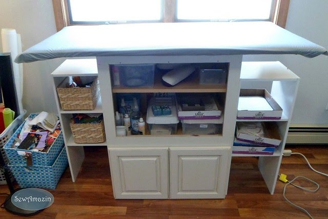 My Sewing Room Makeover Part 2 Ironing Station And Work