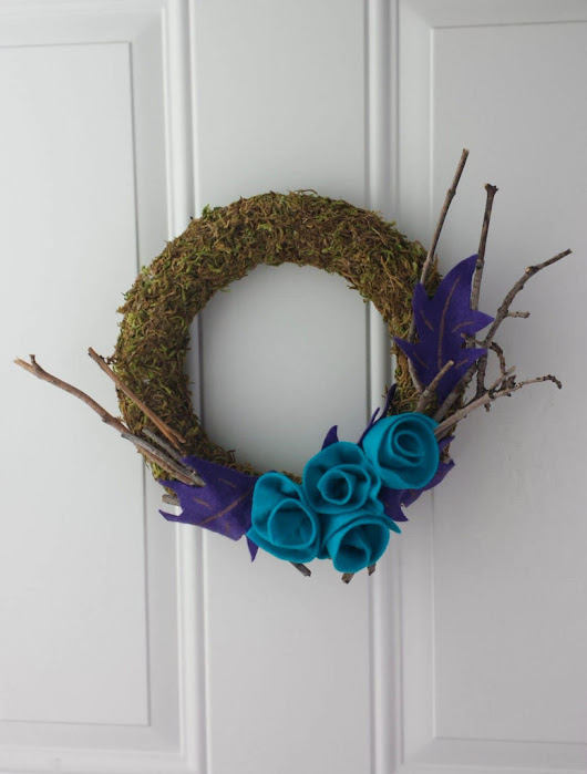 Craft Moss Wreath DIY · Fancymomma