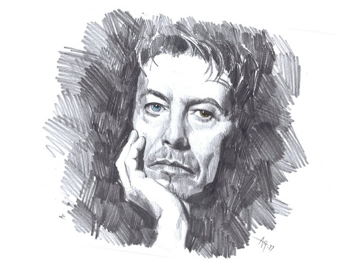 "Anthony Greentree on Twitter: ""#sketchjanuary Quick drawing of music legend David Bowie. Forever an inspiration. #DavidBowie """