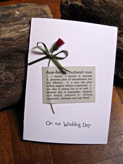 Scottish Wedding Day Card for Wife or Husband by