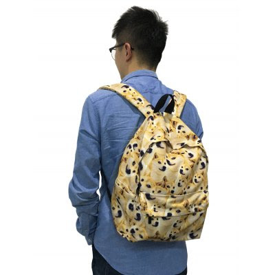 GearBest Blog: [ New Arrival ] Cute Doge Cartoon Print Canvas Backpack
