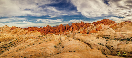 Valley Of Fire Panorama by Rikk Flohr