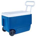 Igloo 45004 Wheelie Cool Cooler, 38 Qt, Majestic Blue/white