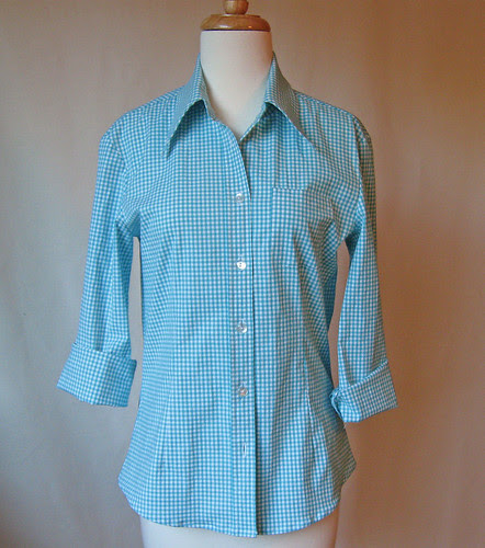 Gingham shirt front full