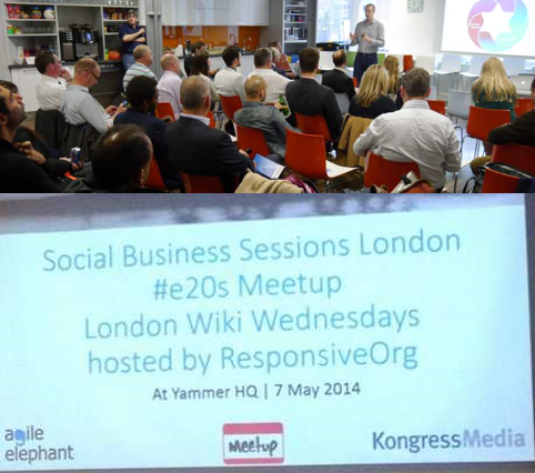 Combined Social Business Session - London #e20s - 4 June 2014