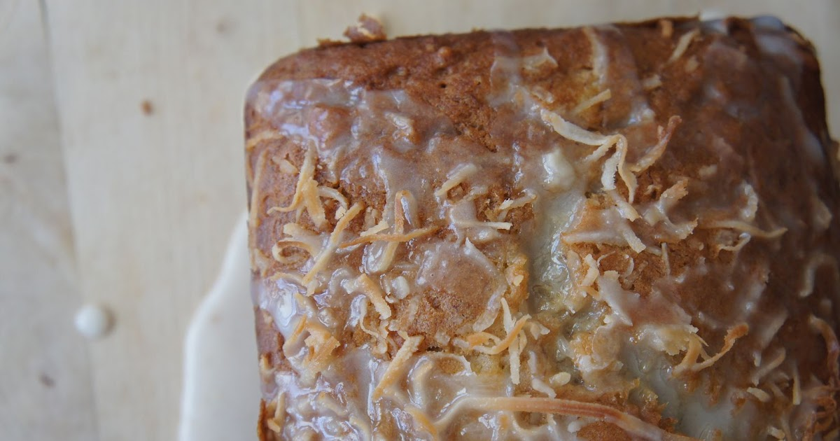 Anne's Odds and Ends: Coconut Banana Bread with Lemon Glaze Recipe