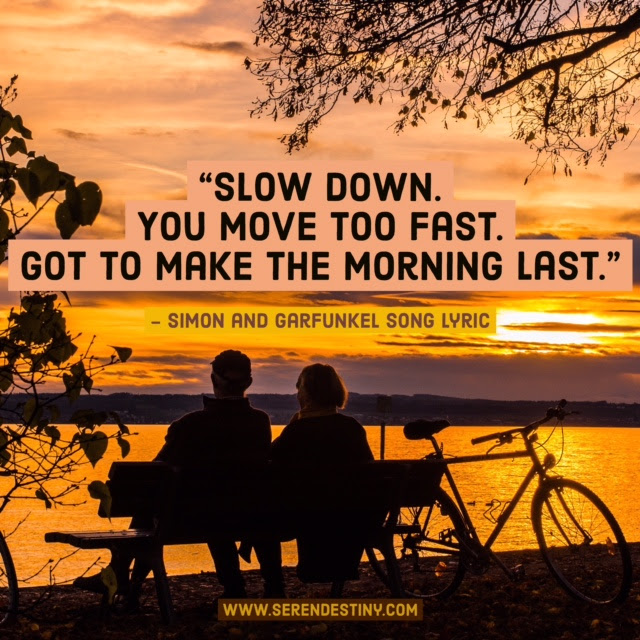 Day Right Quote 46 Slow Down You Move Too Fast The Intrigue Agency