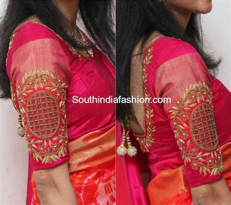 Hand Embroidered Blouse for Silk Sarees ? South India Fashion