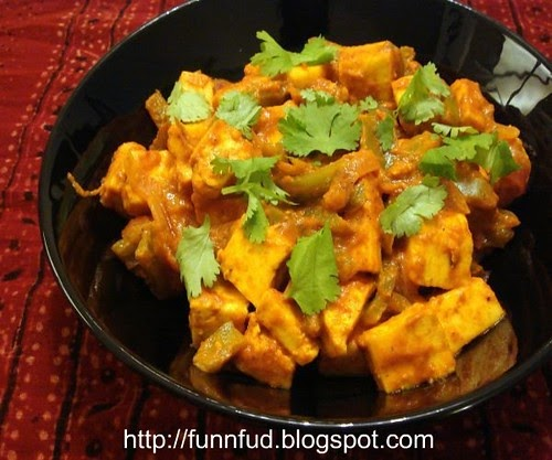 Kadhai paneer fun and food blog for Aum indian cuisine