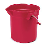 Rubbermaid FG296300RED 10 qt Round BRUTE Bucket - Red