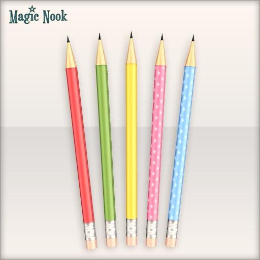 [MAGIC NOOK] Study Hard! /FREEBIE/ - Colourful pencils