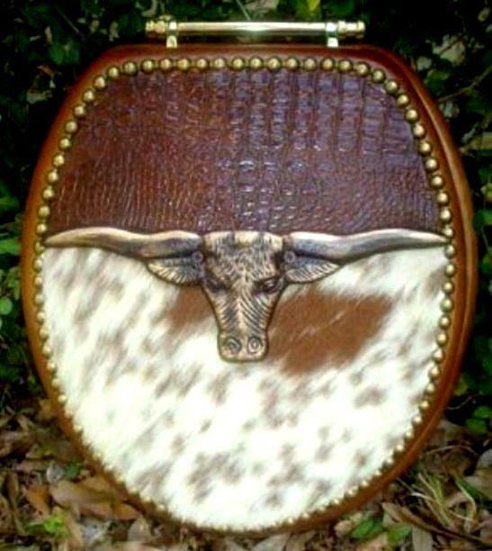 Cowboy Cowhide Western Decor Western Bathroom Decor Southwest Bathroom Decor Horse Decor