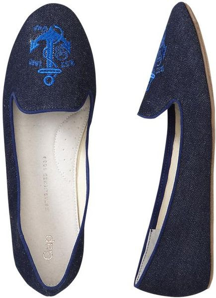 Gap Patterned Loafers Blue