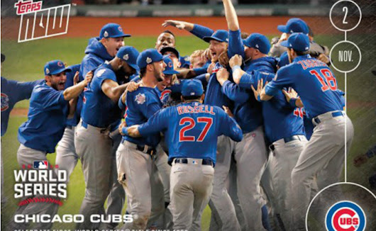 Chicago Cubs Receive Championship Treatment from Topps