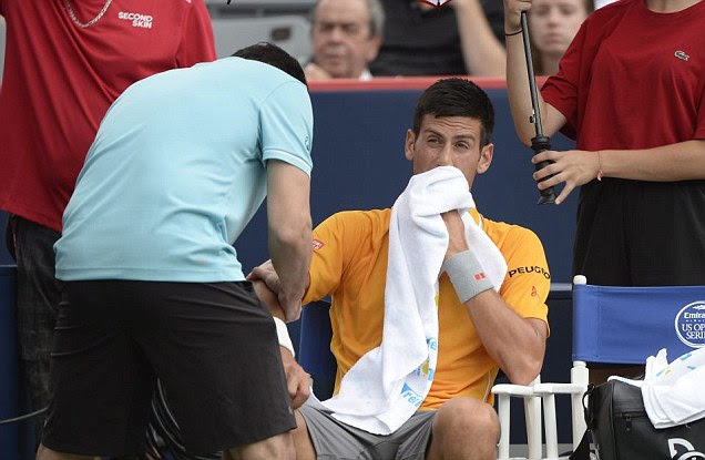 Novak Djokovic claims the pungent smell of cannabis left him feeling dizzy during his