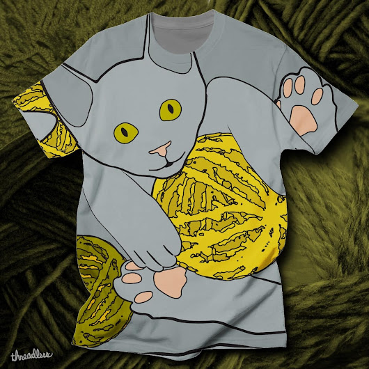 A Cat Above on Threadless
