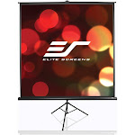 Elite Tripod Series T113NWS1 Projection Screen with Tripod - White