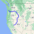 204 8th Ave S, Kelso, WA 98626 to Reno, NV - Google Maps