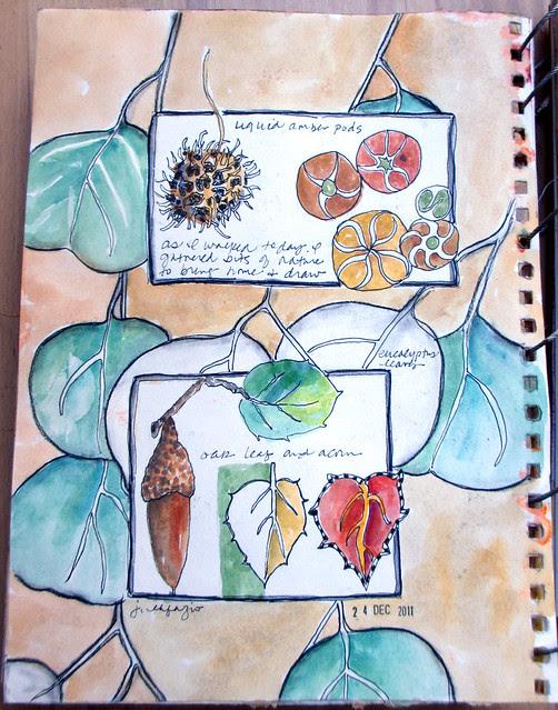 Sketchbook: from my walk