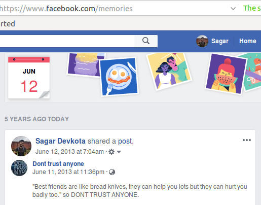 Facebook Bring All Memories in One Place - Time and Update