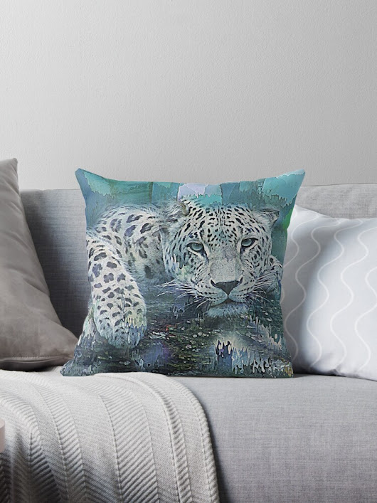 'Leopard Abstract' Throw Pillow by Galen Valle