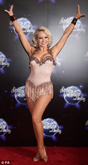 Ballroom beauty: Professional dancer Kristina Rihanoff shows off for the cameras