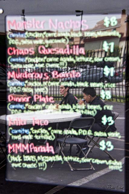 Attack of the Killer Carnitas menu