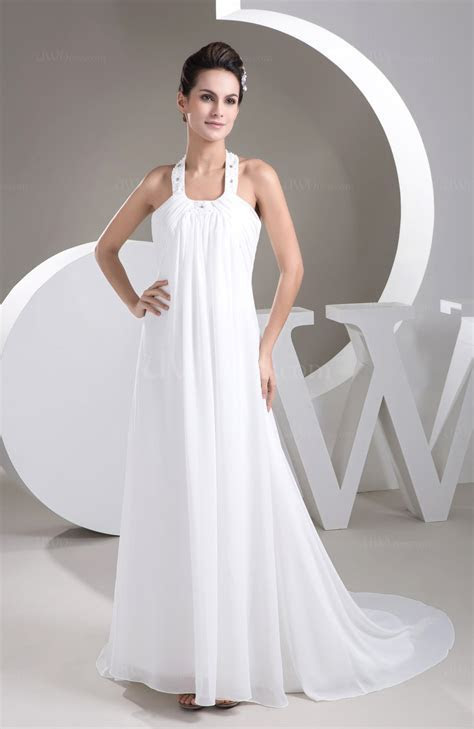 White Vintage Bridal Gowns Inexpensive Informal Casual