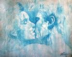 """Bruno Steinbach. """"O Beijo Gitano - O Sonho de Aladiah"""" .Acrílica/cartão, 75 x 95 cm, 1998, Mossoró, Rio Grande do Norte, Brasil. Da série """"Nômades Amantes do Tempo"""". Acervo do Artista. Catálogo 79."""