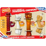 Nylabone Dog Chews for Powerful Chewers 4 Count - Durable & Long Lasting