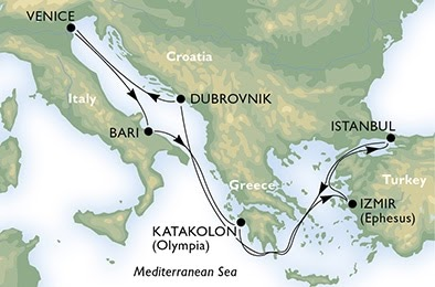 7 Night Mediterranean Cruise From Venice Roundtrip