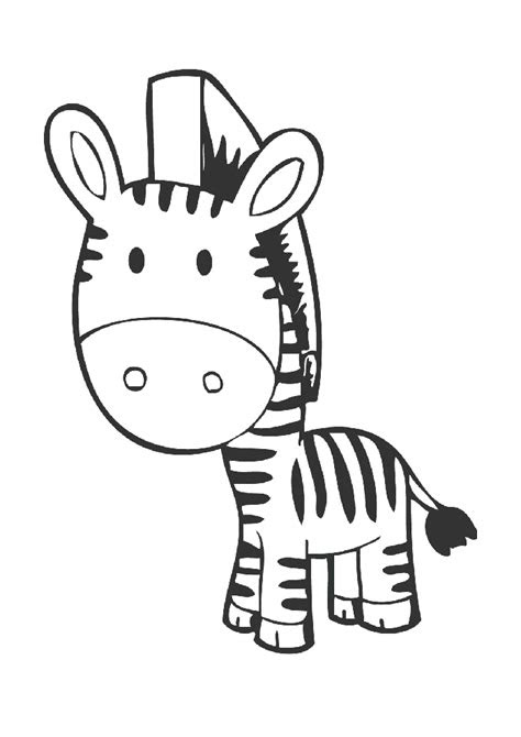 zebra boyama sayfasi okuloencesitr preschool