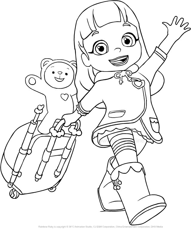 Rainbow Ruby Free Printable Coloring Pages Colorpagesorg