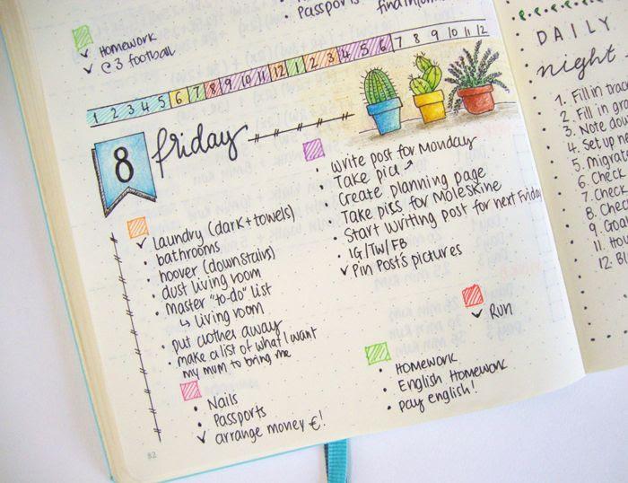 Daily Planner Bullet Journal   Daily Agenda Calendar