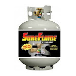 Manchester Tank LP Tank, OPD, Sureflame, 5 gal W/Guage 10577